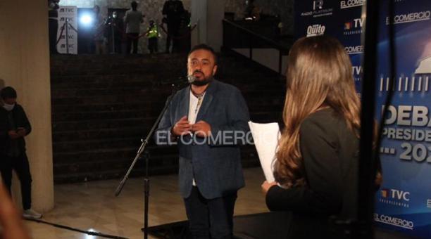 Paúl Carrasco, candidato presidencial por Juntos Podemos. Foto: Vicente Costales / EL COMERCIO
