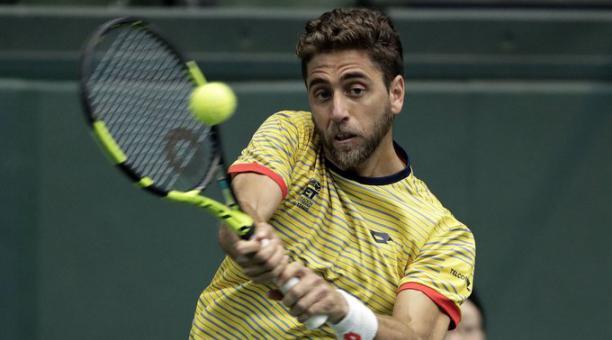 El tenista ecuatoriano Roberto Quiroz se clasificó a la siguiente ronda. Tomado de Twitter.