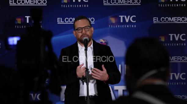 Juan Fernando Velasco, candidato presidencial del movimiento Construye. Foto: Julio Estrella / EL COMERCIO