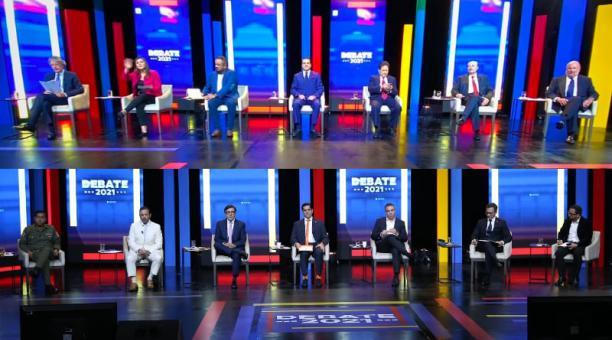 El Debate Presidencial 2021 entre 14 de los 16 candidatos se realizó este 9 y 10 de enero del 2021 en el Teatro de la Casa de la Cultura, Quito. Fotos: Diego Pallero / Vicente Costales / EL COMERCIO