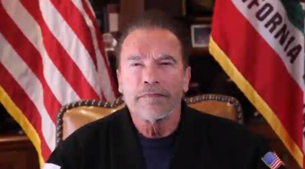 El actor y exgobernador Arnold Schwarzenegger comparó el asalto al Capitolio con el nazismo en Alemania. Foto: Captura de pantalla