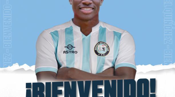 Ángelo Quiñónez es nuevo jugador del Guayaquil City. Foto: Twitter del Guayaquil City