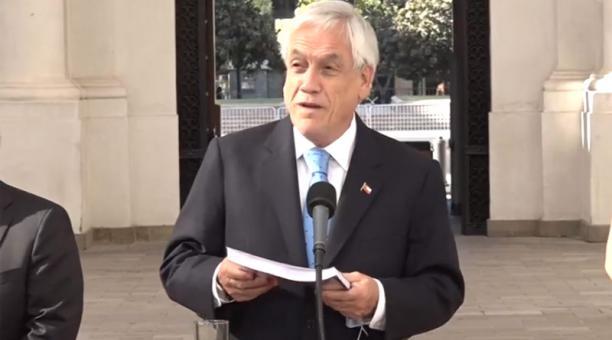 El presidente de Chile, Sebastián Piñera, y la primera dama, Cecilia Morel, iniciaron este martes 12 de enero del 2021 una cuarentena preventiva. Foto: Captura