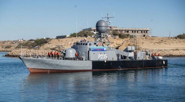 La Armada iraní realizó los ensayos militares en las costas de Makran, en el océano Índico. Foto: EFE