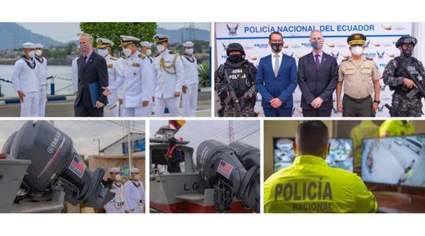 La autoridad estadounidense también entregó un sistema de cámaras de seguridad para los agentes antinarcóticos del Puerto Principal.