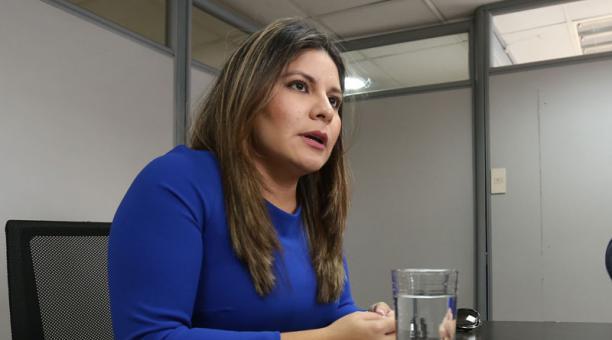 La consejera del Cpccs, María Fernanda Rivadeneira, anunció este 14 de enero del 2021 que apelará su sentencia por supuesta calumnia a Christian Cruz, extitular del organismo. Foto: Archivo/ EL COMERCIO.
