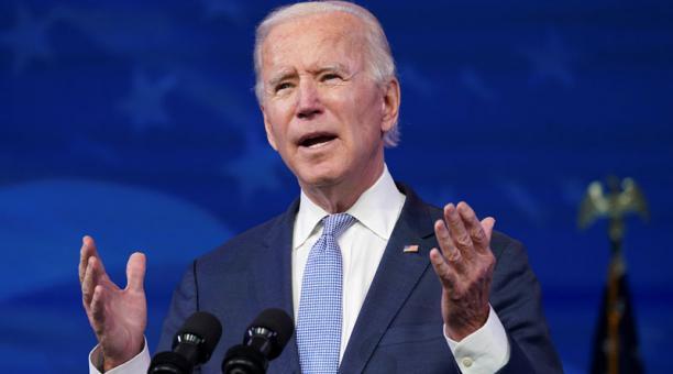El presidente electo de Estados Unidos, Joe Biden, presentó su plan de estímulo para reactivar la economía ante la pandemia. Foto: Reuters