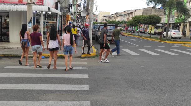 Así se encuentra la ciudad de Esmeraldas, luego de los sismos de este viernes 15 de enero del 2021. Foto: Marcel Bonilla / EL COMERCIO