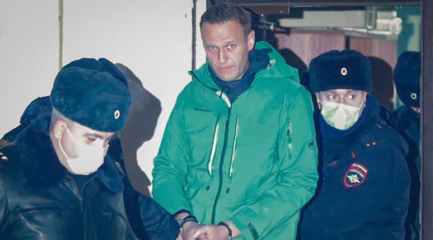 El opositor ruso Aléxei Navalni cumplirá los primeros días de su prisión preventiva en una celda de cuarentena. Foto: EFE.