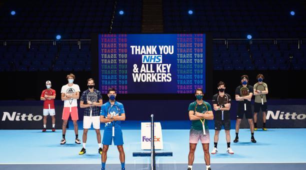 Foto referencial de los mejores tenistas de la clasificación mundial. Foto: ATP