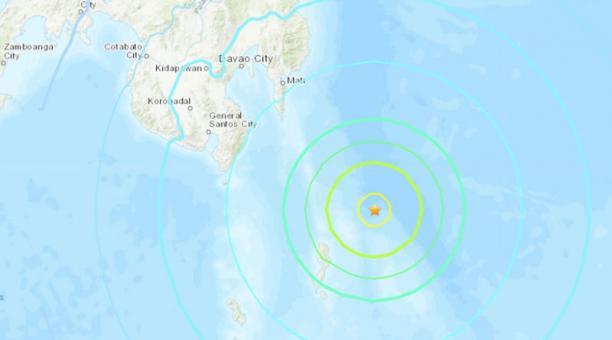 Un terremoto de 7 grados se registró este 21 de enero del 2021 cerca de Filipinas. Foto: captura.