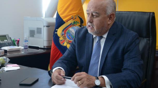 Mauricio Pozo es el titular del Ministerio de Finanzas. La Cartera de Estado emitió un reporte sobre el endeudamiento del país. Foto: Cortesía