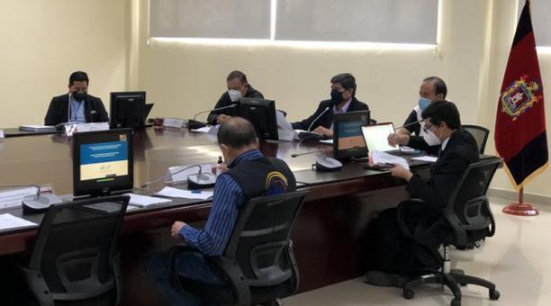 La Mesa de Seguridad Electoral se reunió este 22 de enero del 2021. Foto: Captura Twitter ECU 911
