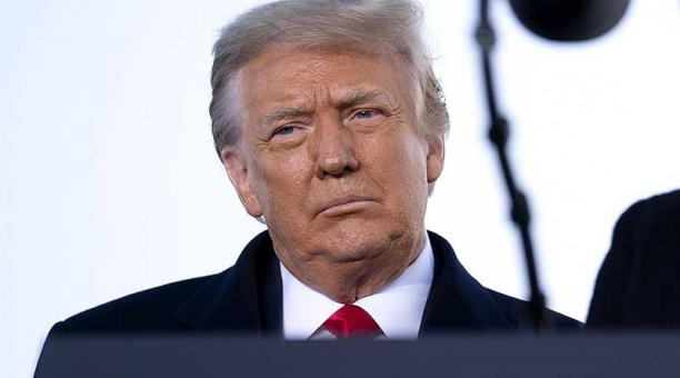 Donald Trump enfrenta un juicio político, el segundo de su mandato, por su responsabilidad en el asalto al Capitolio. Foto: EFE