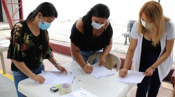Jóvenes participaron en el simulacro electoral realizado el pasado 17 de enero. Foto: Cortesía