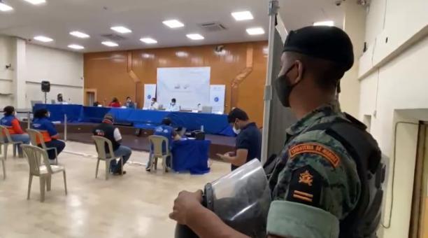 En Guayaquil se realizó un simulacro antes de las elecciones del 2021