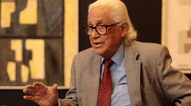 El pintor guayaquileño Enrique Tábara falleció el 26 de enero del 2021, a los 91 años de edad. Foto: Archivo/ EL COMERCIO