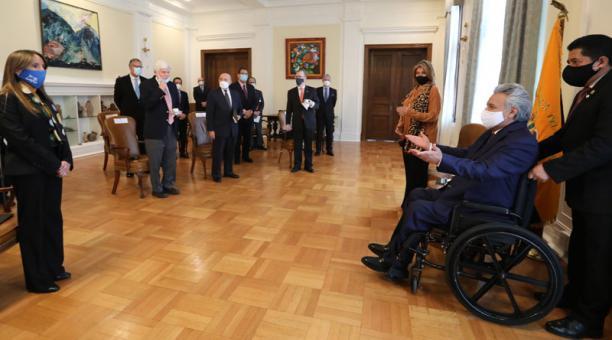 El presidente Lenín Moreno mantendrá reuniones con la Gerente del FMI en Estados Unidos, como parte de la agenda de actividades que desarrolla en ese país. Foto: Flickr Presidencia