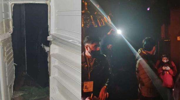 El ingreso al bar esra por una puerta de refrigerador falsa. Foto: Captura