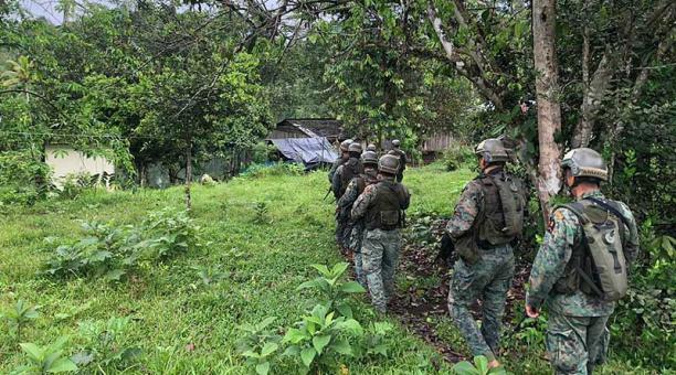 El 18 de enero del 2021, militares patrullaron la población de El Pan, en la frontera. Foto: FF.AA.