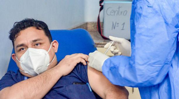 Las vacunas contra el covid-19 llegaron a Esmeraldas este 27 de enero del 2021. Foto: cortesía.