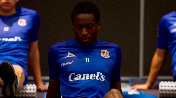 Anderson Julio, durante un entrenamiento de su equipo en México. Foto: Club Atlético San Luis