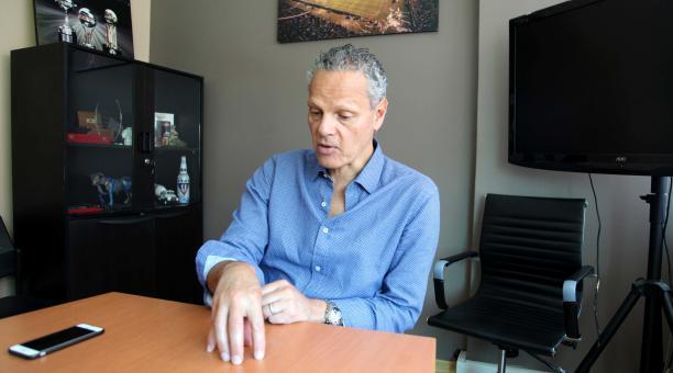Esteban Paz, directivo de Liga de Quito, habló sobre el control financiero de la LigaPro. Archivo/EL COMERCIO