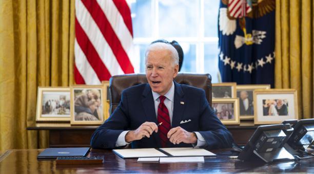 Joe Biden asumió el poder el  pasado 20 de enero del 2021. Foto: EFE