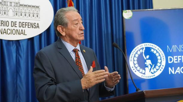 """El ministro de Defensa, Oswaldo Jarrín, señaló este jueves 28 de enero del 2021 que """"la papeleta de parlamentarios andinos definitivamente irá en la segunda vuelta, de existir"""". El funcionario ratificó que la impresión de esa boleta está postergada. Foto"""