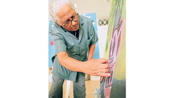 El pintor guayaquileño falleció el lunes pasado, a los 90 años. Es uno de los referentes de la plástica ecuatoriana.
