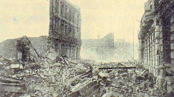 El gran fenómeno telúrico ocurrido en enero de 1906 provocó la destrucción de gran parte de la ciudad. Foto: www.taringa.net