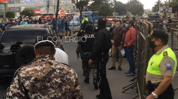 Daniel Salcedo fue trasladado el sábado 30 de enero del 2021a la cárcel de Cotopaxi, tras difusión de video en TikTok. Foto: Geovanny Tipanluisa/ EL COMERCIO