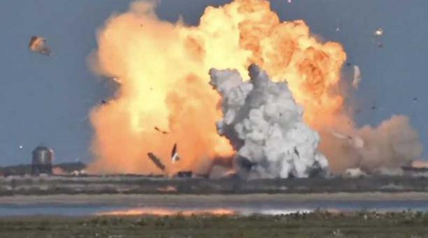 El Starship Serial Number 9 (SN9) se estrelló al aterrizar durante una prueba efectuada en la base de la compañía en Boca Chica (Texas). Foto captura