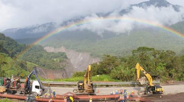 Petroecuador construye dos variantes adicionales del SOTE debido a la erosión en San Rafael. Foto: Twitter Petroecuador
