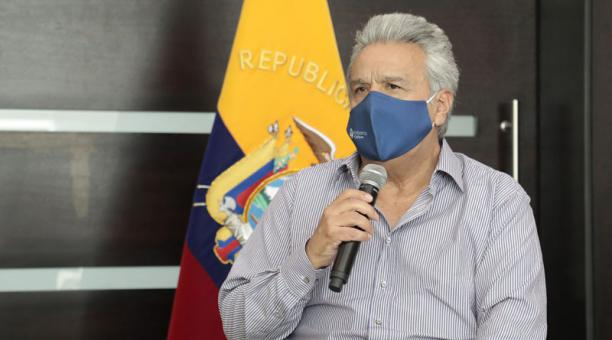 Lenín Moreno habló de la transición en la Presidencia de Ecuador, antes de concluir su mandato. Foto: Flickr Presidencia