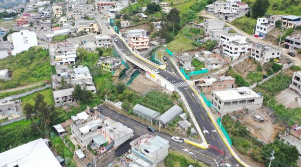 Uno de los objetivos principales de los trabajos es prevenir los accidentes de tránsito en esta zona de Quito donde habitan más de 6 000 personas. Foto cortesía Municipio de Quito