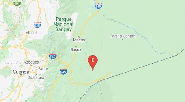 El sismo en Sucua, Morona Santiago, ocurrió a las 07:02 de este domingo 7 de febrero del 2021. Foto: captura