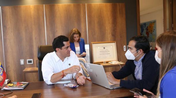 Xavier Hervas, candidato presidencial por la Izquierda Democrática. Foto: Vicente Costales / EL COMERCIO