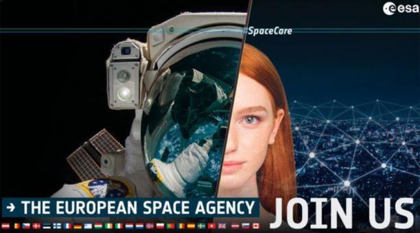 La Agencia Espacial Internacional quiere a nuevos astronautas en su nómina por lo que hace una convocatoria. Foto: Tomado de Twitter de la cuenta @esa_es