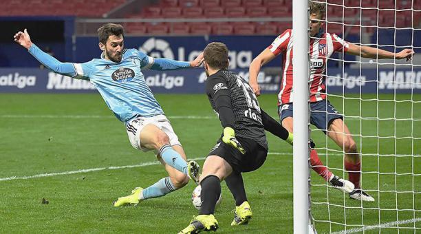 El Celta de Vigo frenó en seco al Atlético de Madrid, que es líder de la Liga de España con una fecha menos. Foto: tomada del Twitter