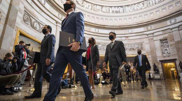 El Senado de EE.UU. ya había sometido a votación a finales de enero la cuestión de la constitucionalidad del juicio político contra Trump con un resultado parecido. Foto: EFE