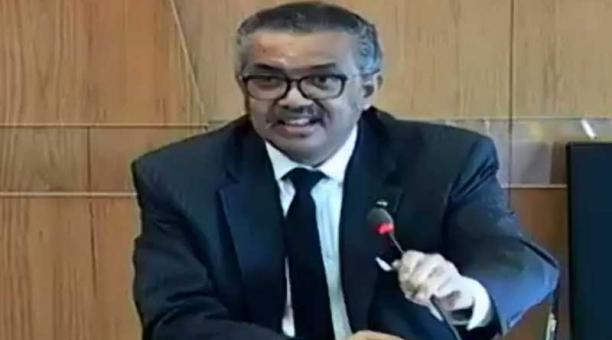 El director general de la OMS, Tedros Adhanom Ghebreyesus, dijo que