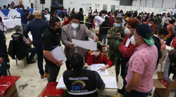 Las funciones del Estado emitieron la tarde de este 10 de febrero del 2021 un comunicado sobre el proceso electoral. Foto: Diego Pallero/ EL COMERCIO.