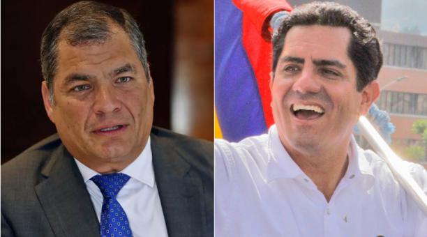Rafael Correa y Xavier Hervas. Fotos: Capturas