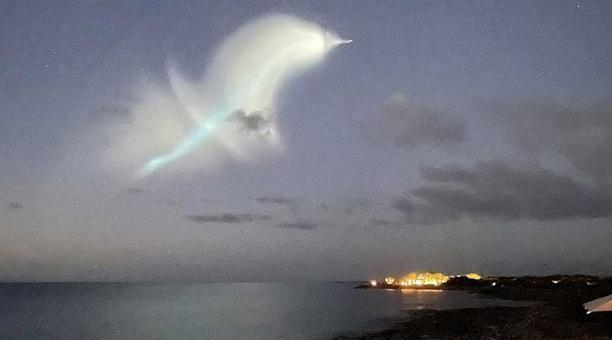 El misil Trident II voló a más de 7 500 millas (unos 12 000 kilómetros) de altura y recorrió una distancia de unos 8 400 kilómetros. Foto: Twitter The Home of Secrets