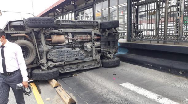 El fiscal Luis Machado, que lleva el caso del asesinato de Lisbeth Baquerizo, sufrió un accidente este 11 de febrero del 2021 en Guayaquil. Foto: cortsía.