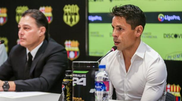 Matías Oyola, de 38 años, permanecerá una temporada más con el plantel 'canario'. Foto: Prensa BSC.
