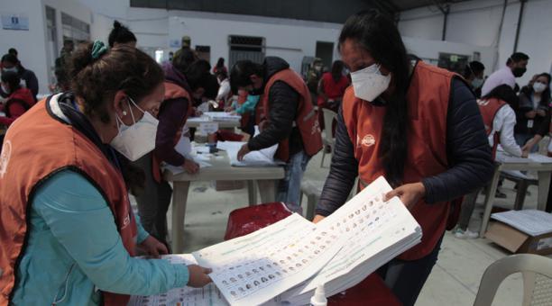 Pachakutik pide el reconteo de votos en siete provincias. Foto: Galo Paguay / EL COMERCIO