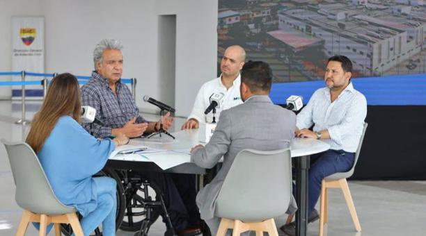 El presidente Moreno realizó su enlace radial desde Manta. Foto: Cortesía