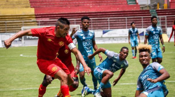 Aucas jugó con El Nacional el 13 de febrero del 2021. Foto de la cuenta de Twitter @Aucas45